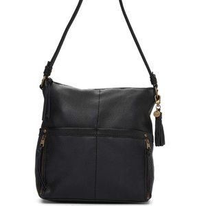 NWT black leather bag